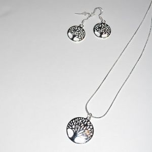 Jewelry - Silver Tree of Life Earrings & Necklace